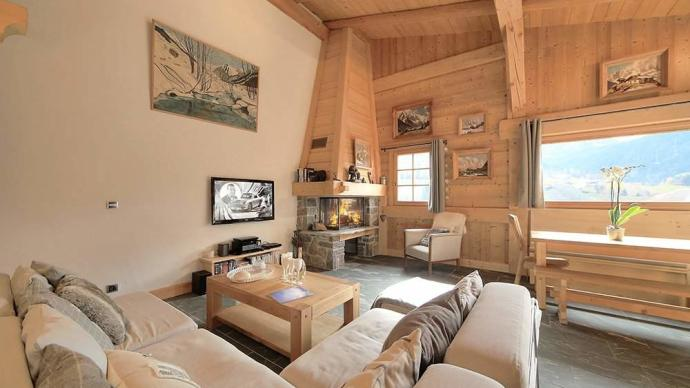 Four-bedroom chalet in Mégève, France, for €970,000.