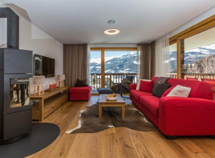 This is a spaciously designed 3 bedroom apartment, created and finished to Swiss high standards combining the best of local traditions with contemporary mountain living.